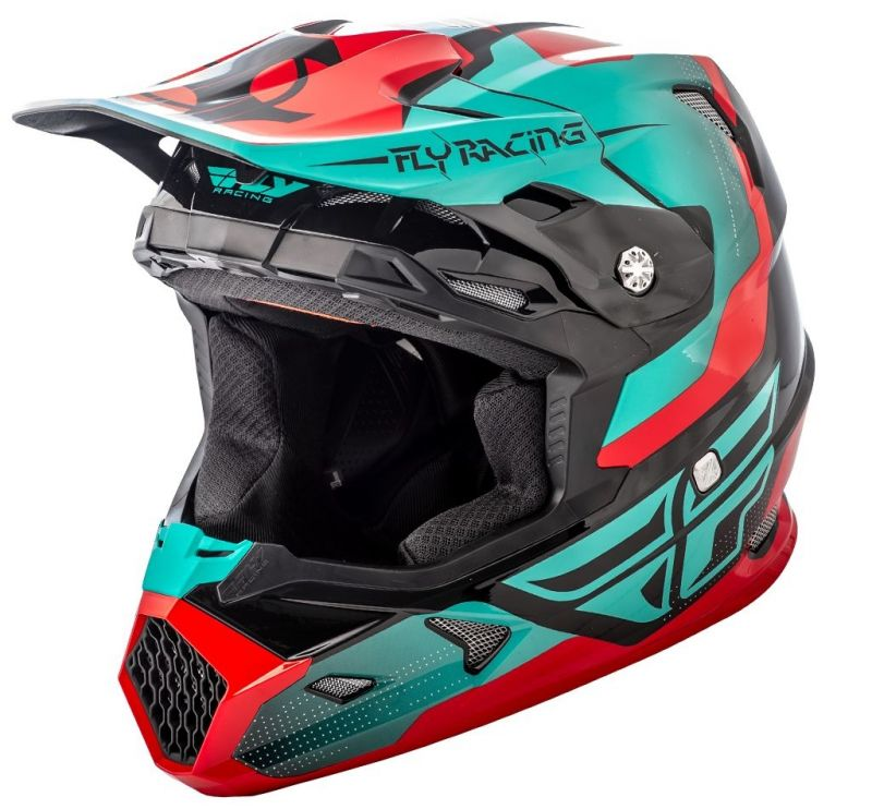 Casque cross Fly Racing Toxin rouge/bleu/noir