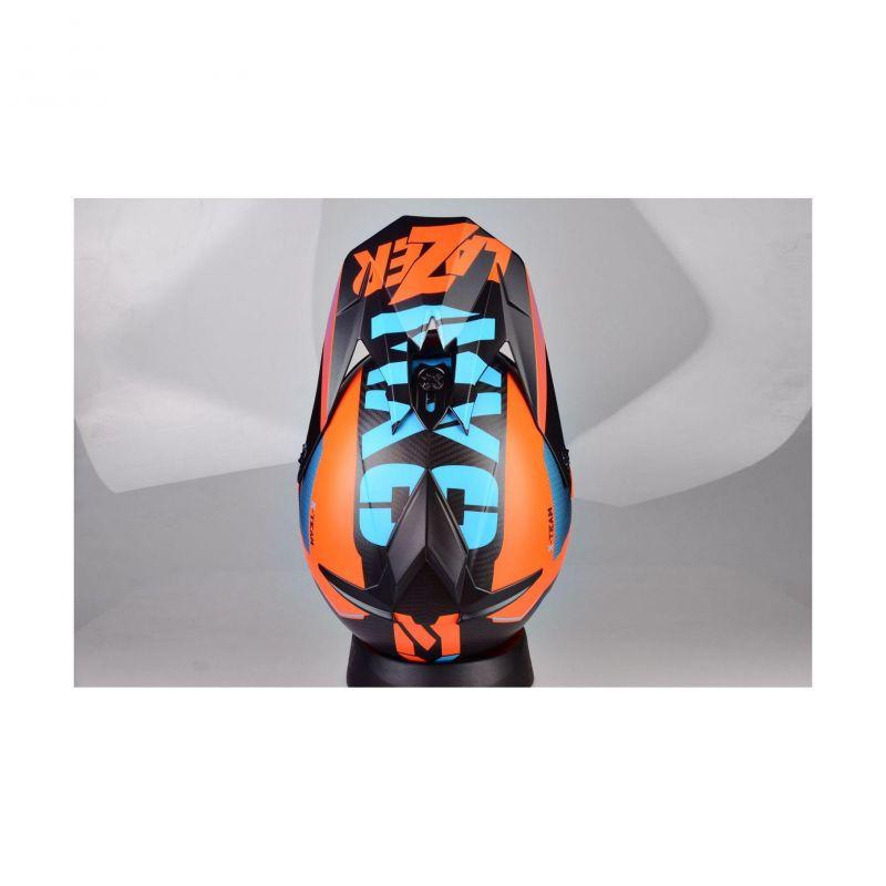 Casque cross Lazer MX8 X-team Carbon carbone/bleu/orange mat - 5