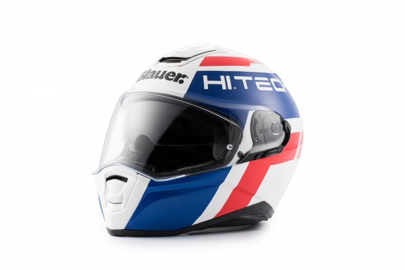 Casque Blauer Force One 800 Blanc/Bleu/Rouge Brillant - 2
