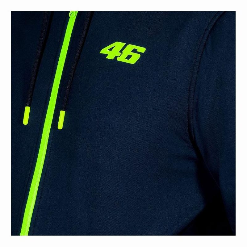 Sweat à capuche zippé insulation VR46 Core bleu - 2