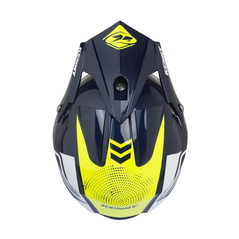 Casque trial Kenny Trial Air Graphic navy/jaune fluo - 2