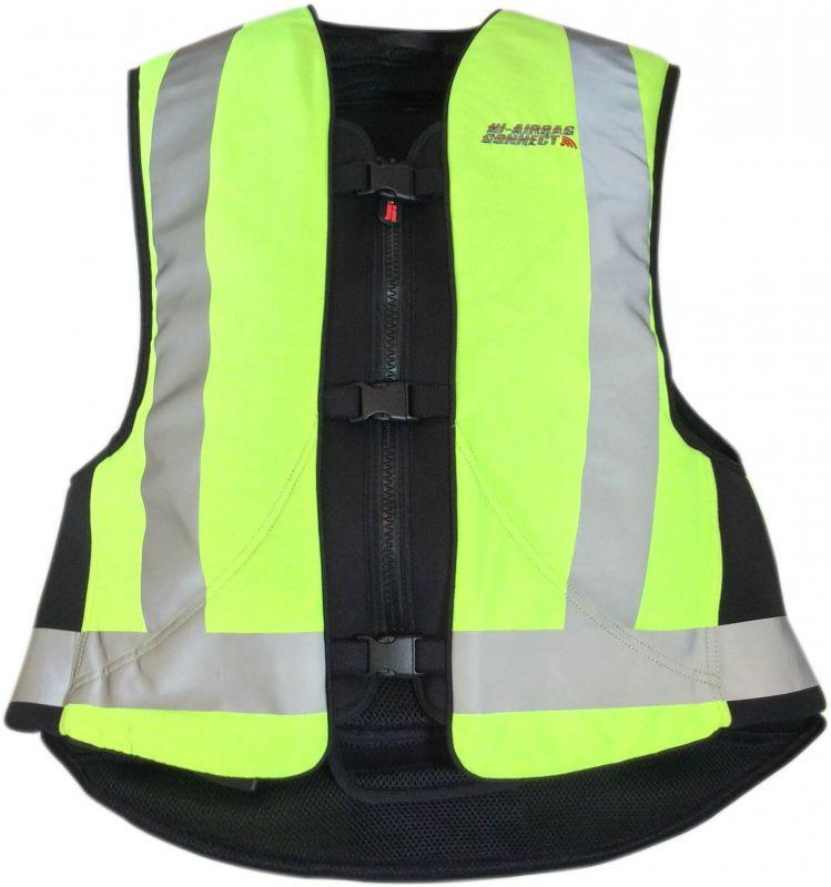 gilet airbag hi airbag connect jaune fluo quipement route sur la b canerie. Black Bedroom Furniture Sets. Home Design Ideas