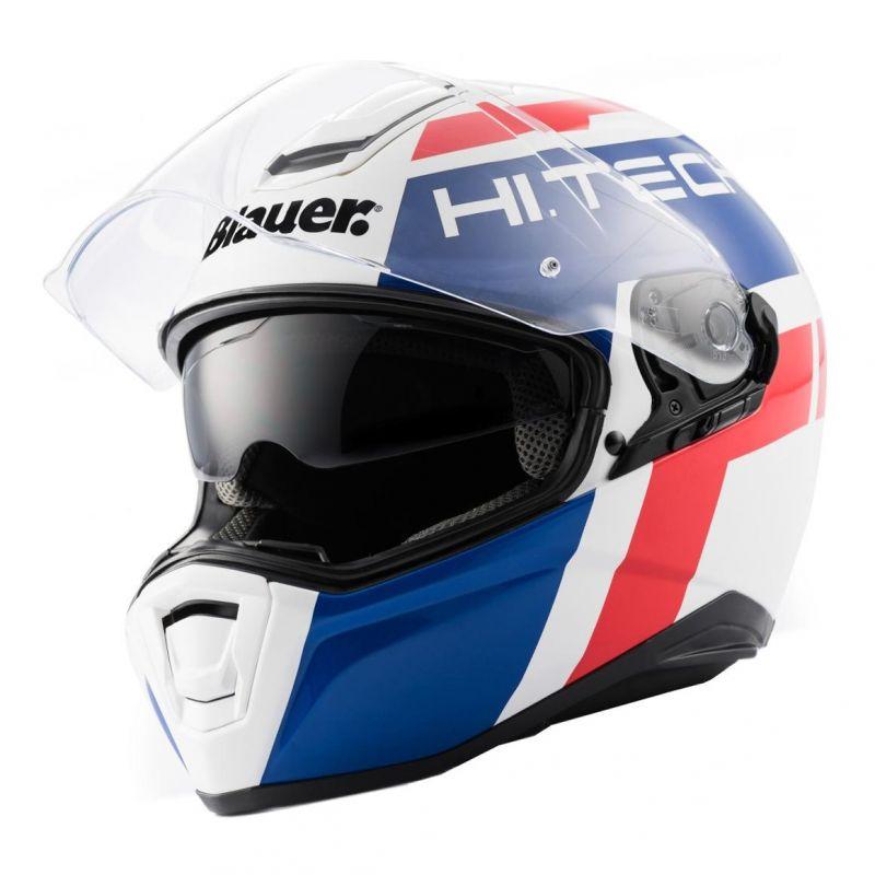 Casque Blauer Force One 800 Blanc/Bleu/Rouge Brillant