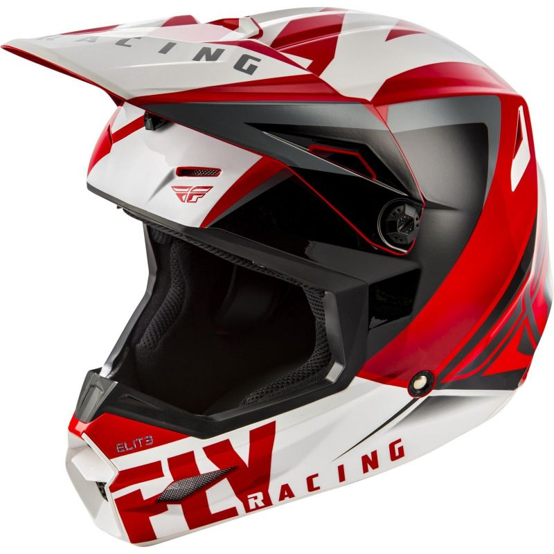 Casque cross Fly Racing Elite Vigilant rouge/noir/blanc