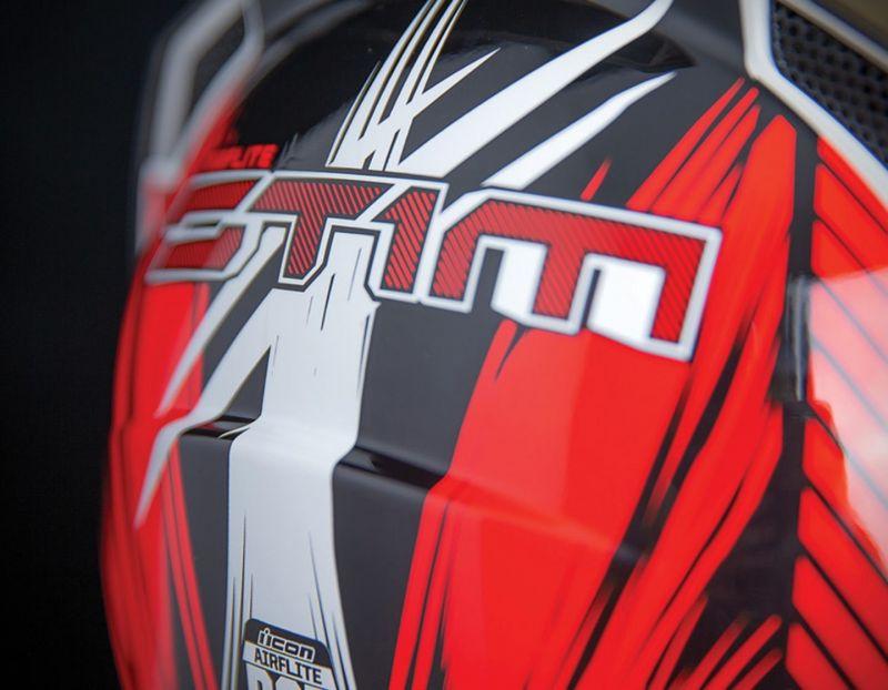 Casque intégral Icon Airflite Stim rouge - 3
