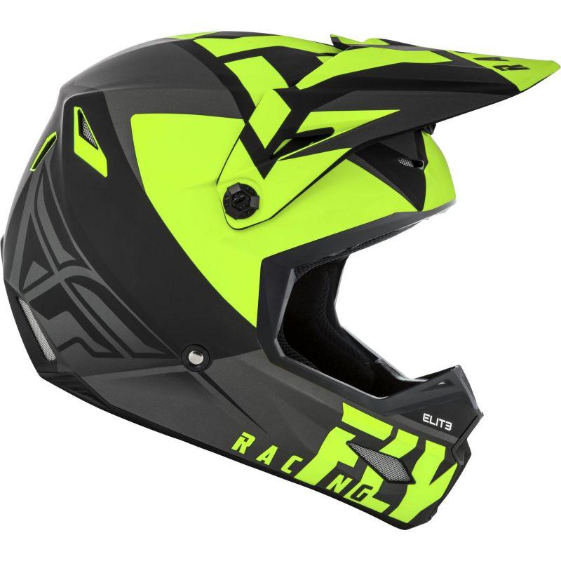 Casque cross Fly Racing Elite Vigilant noir/jaune - 1