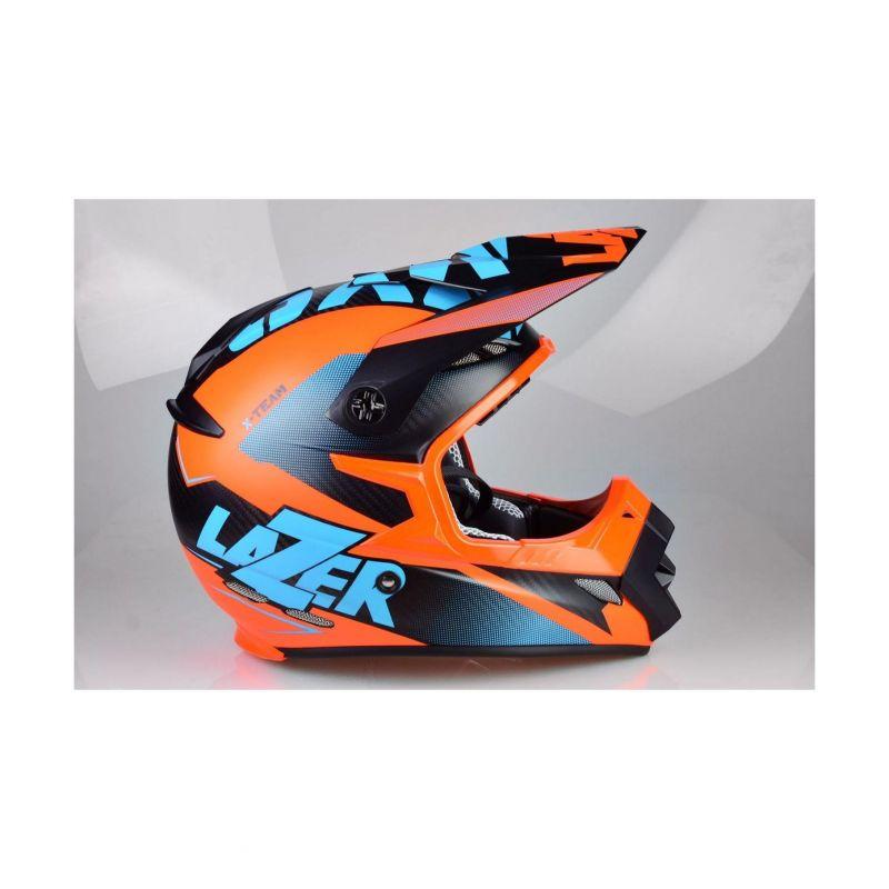 Casque cross Lazer MX8 X-team Carbon carbone/bleu/orange mat - 3