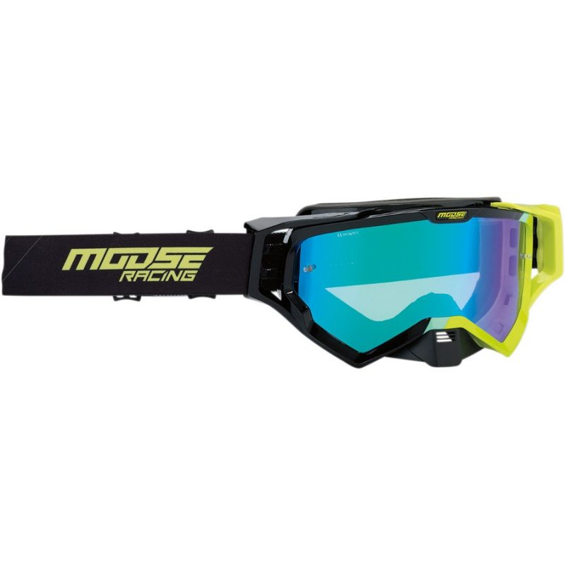 Masque cross Moose Racing XCR Hatch noir/jaune fluo