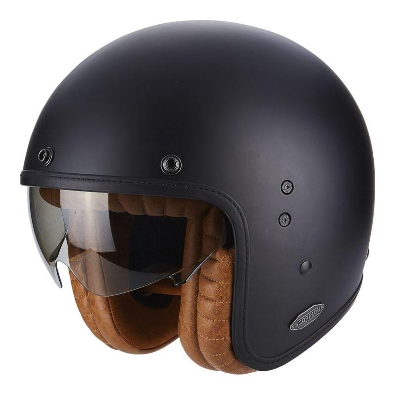 casque jet scorpion belfast luxe noir mat casques moto sur la b canerie. Black Bedroom Furniture Sets. Home Design Ideas