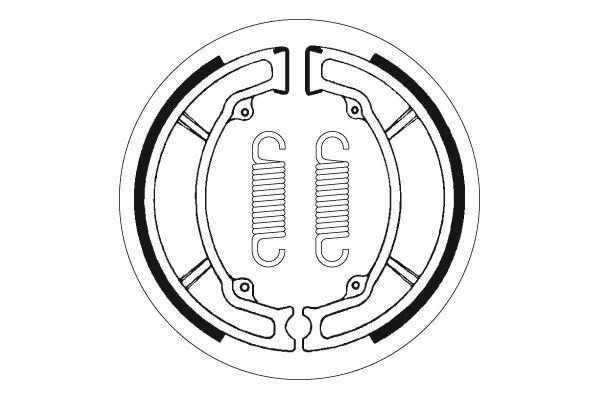 Mâchoires de frein SBS 2034 - 2