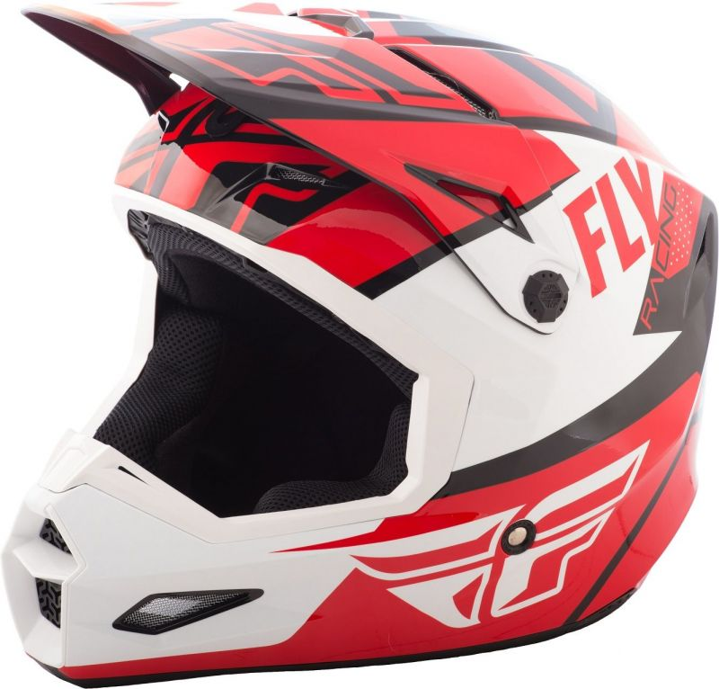 Casque cross Fly Racing Elite Guild rouge/blanc/noir