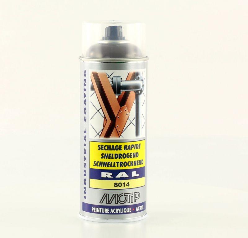 bombe peinture brun s pia brillant acrylique ral 8014 motip 400 ml m07033 peinture sur la. Black Bedroom Furniture Sets. Home Design Ideas