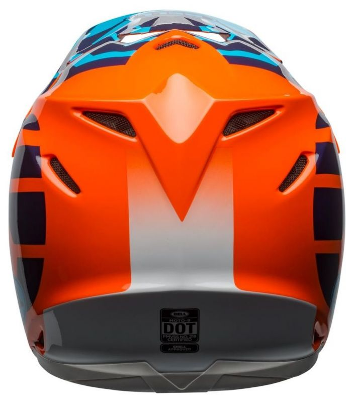 Casque cross Bell Moto 9 Mips Gloss bleu/orange district - 1