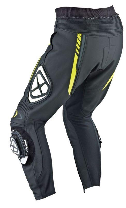 Pantalon cuir Ixon VORTEX PANT noir gris jaune vif - Équipement ... fc47cd887bf