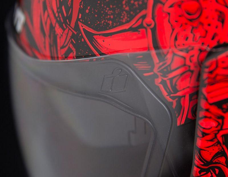Casque intégral Icon Airflite Krom rouge/noir - 4