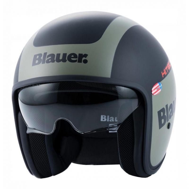 Casque Blauer Pilot 1.1 Graphic G Noir Mat/Vert kaki