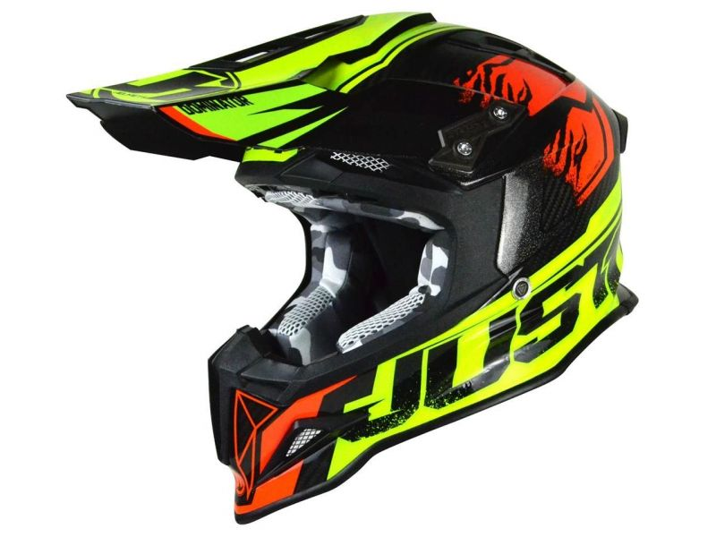 Casque cross Just1 J12 Dominator rouge/jaune