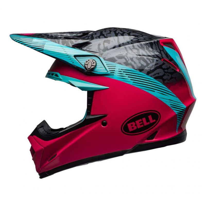 Casque cross Bell Moto-9 Mips Chief noir/rose/bleu - 1