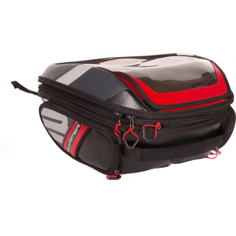 Sacoche de réservoir Bagster Stunt Evo noir/rouge - 1