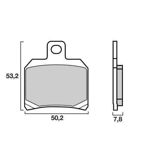 Plaquettes de frein Brembo 07004XS métal fritté arrière