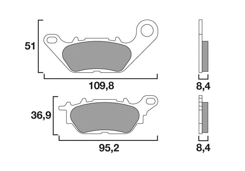 plaquettes de frein brembo carbone c ramique 07ya28cc pi ces freinage sur la b canerie. Black Bedroom Furniture Sets. Home Design Ideas