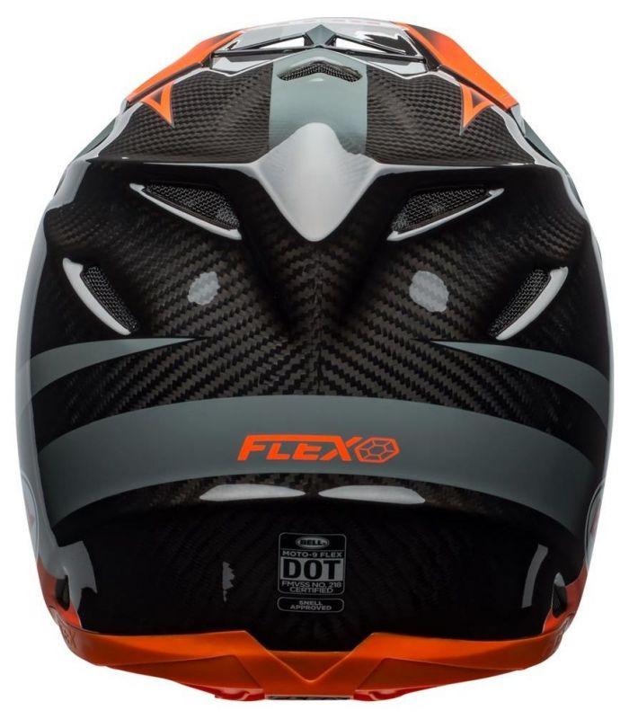 Casque cross Bell Moto 9 Flex Hound Gloss orange mat/charcoal - 1