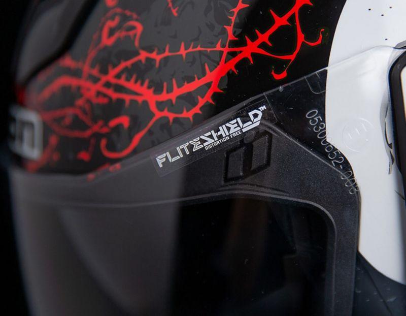 Casque intégral Icon Airflite Skull 18 noir/rouge - 4