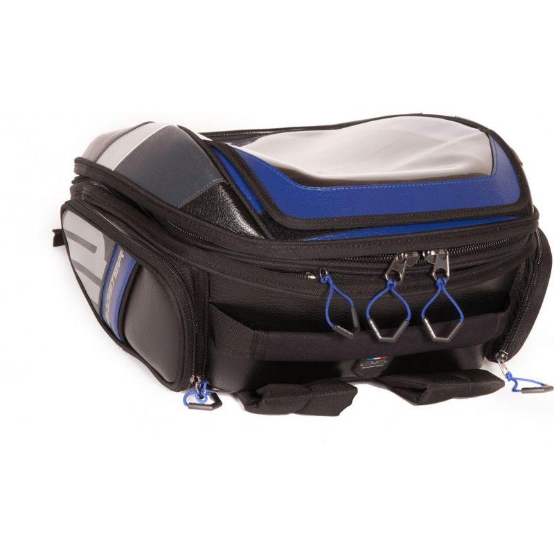 sacoche de r servoir bagster stunt evo noir bleu pi ces bagagerie sur la b canerie. Black Bedroom Furniture Sets. Home Design Ideas