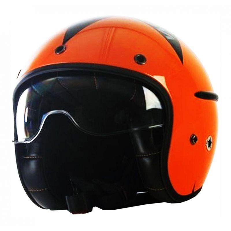 Casque jet Harisson Corsair Stellar orange