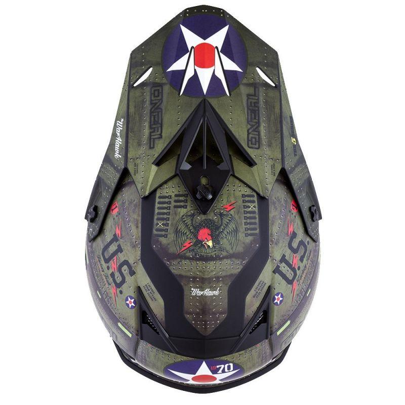 Casque cross O'Neal 5SRS Warhawk noir/vert - 2