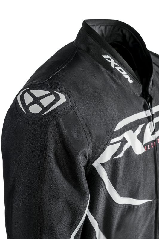 Blouson textile Ixon SPRINTER noir/blanc - 2