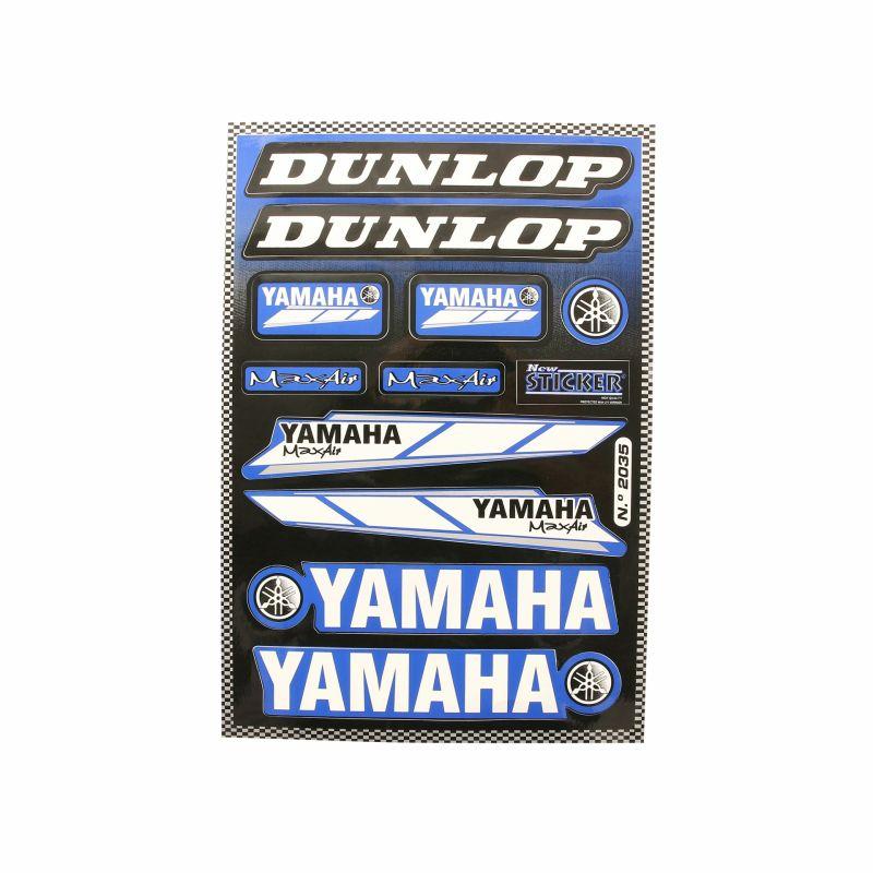 Planche autocollant racing Dunlop