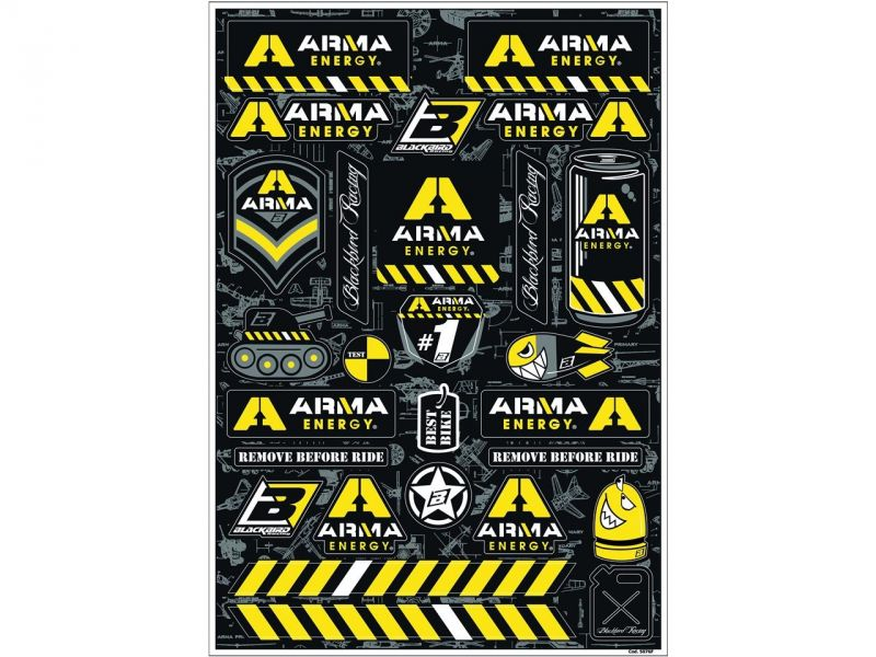 Planche d'autocollants Blackbird Arma Energy 14