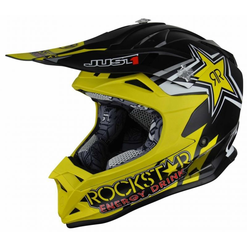 Casque cross enfant Just1 J32 Pro Rockstar 2.0 noir / jaune