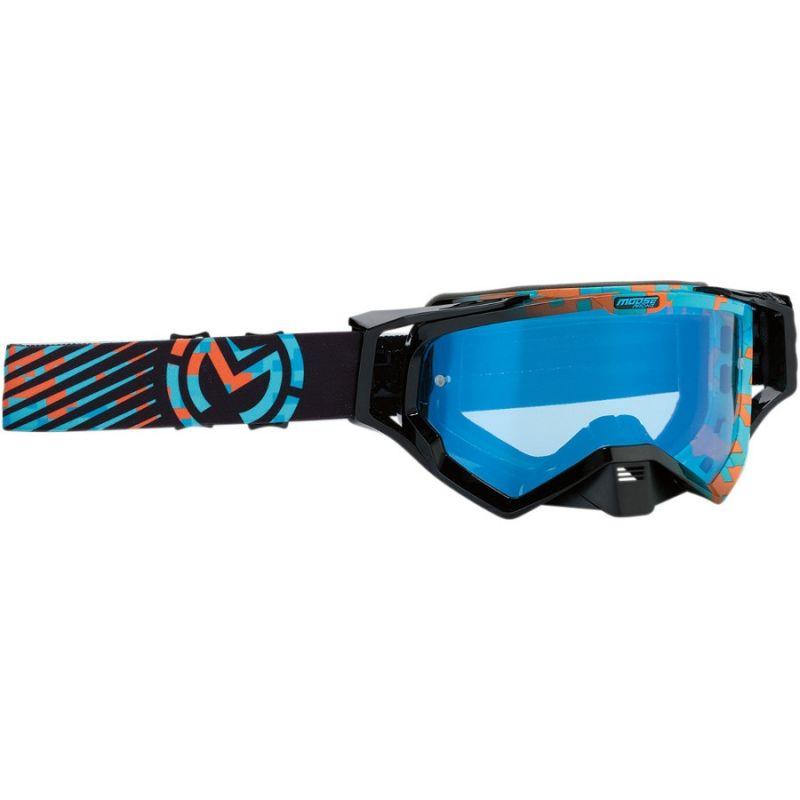 Masque cross Moose Racing XCR Camo bleu/orange