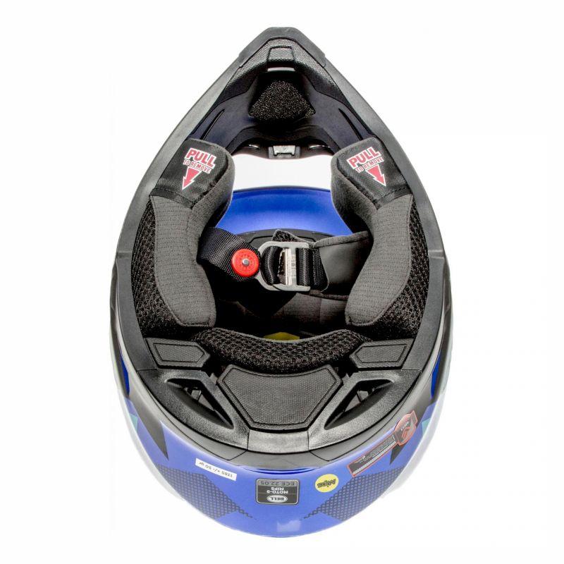Casque cross Bell Moto-9 Mips Tremor bleu/noir - 5