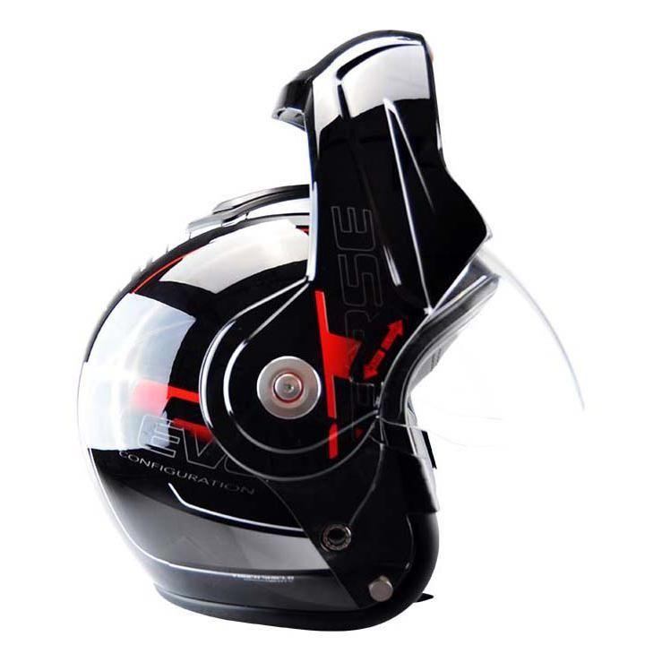Casque modulable T-705 Reverse noir / rouge - 4