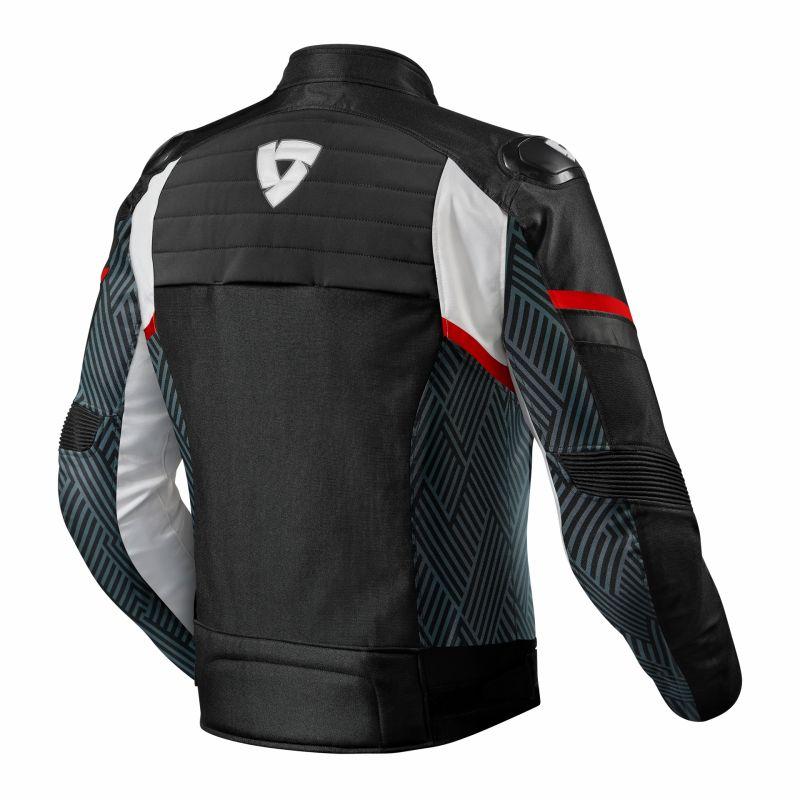 Blouson textile Rev'it Arc H2O noir/rouge - 1
