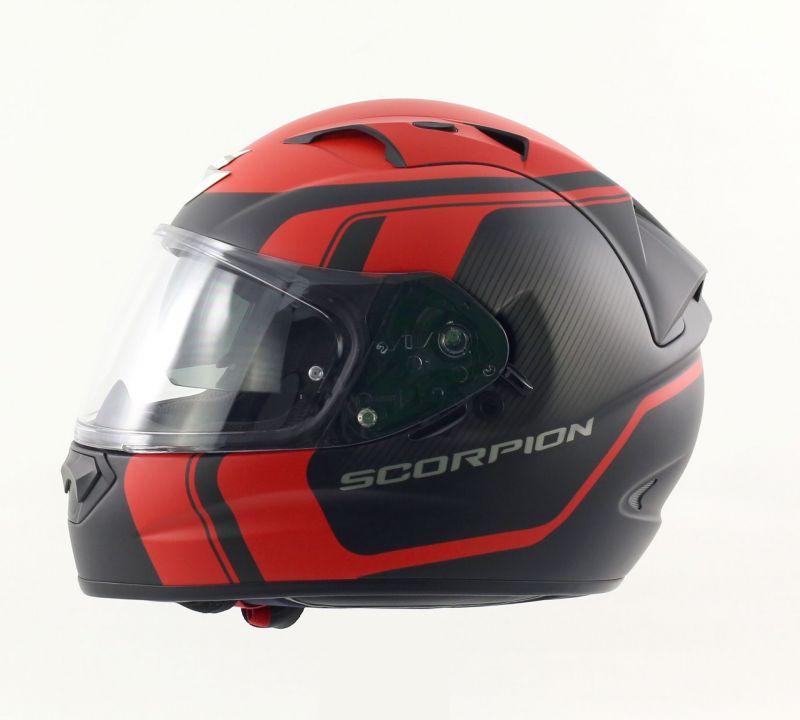 casque int gral scorpion exo 1200 air stream tour noir mat rouge pi ces casques moto sur la. Black Bedroom Furniture Sets. Home Design Ideas