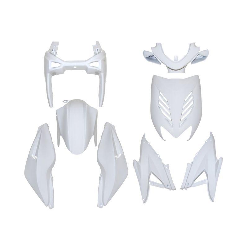 kit carrosserie 8 pi ces blanc brillant adaptable nitro aerox pi ces car nage sur la b canerie. Black Bedroom Furniture Sets. Home Design Ideas