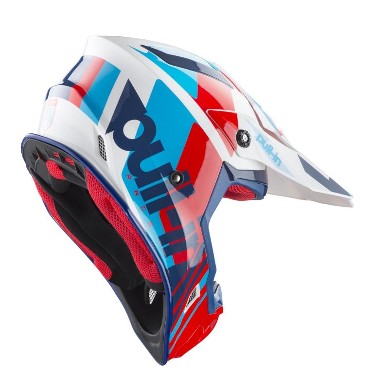 Casque cross Pull-in Race navy/rouge - 1