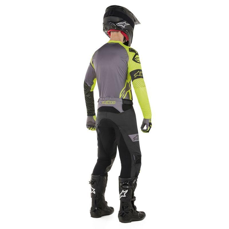 Maillot cross Alpinestars Racer Tech Atomic noir/jaune fluo/gris - 2