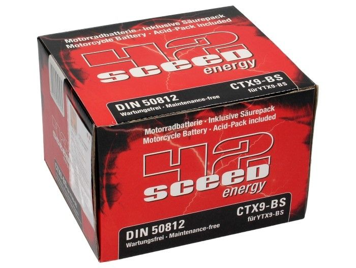 Batterie Sceed 42 YTX9-BS 12V 8Ah avec pack acide - 3