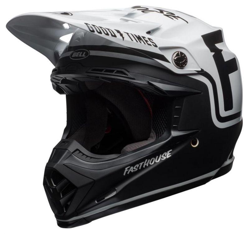 Casque cross Bell Moto 9 Mips Fasthouse Gloss noir mat/blanc