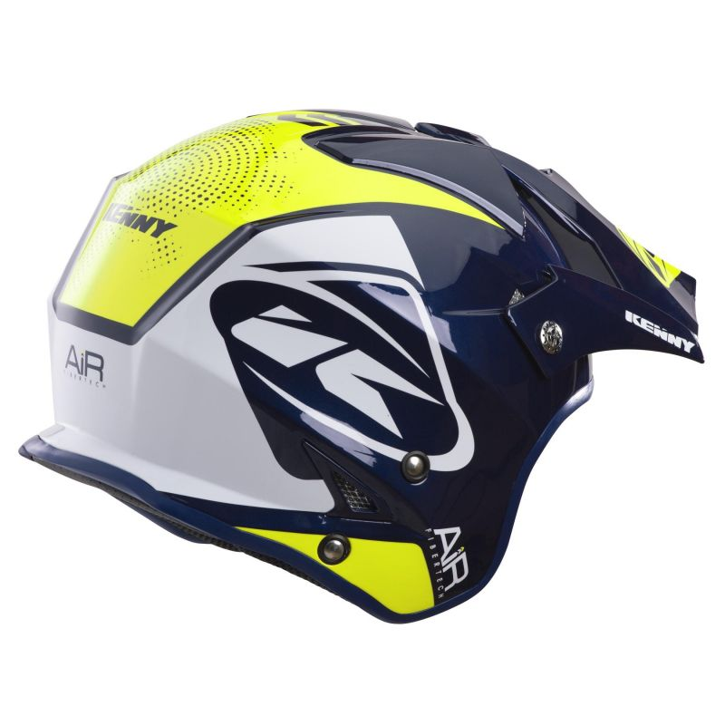 Casque trial Kenny Trial Air Graphic navy/jaune fluo - 1