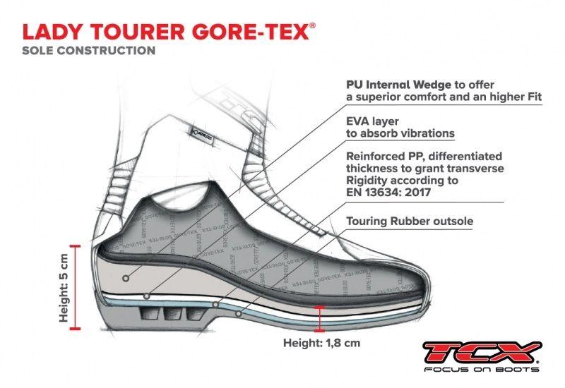 Bottes route femme TCX Lady Tourer Gore-Tex noir - 1