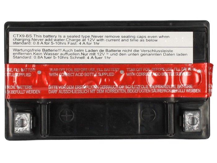 Batterie Sceed 42 YTX9-BS 12V 8Ah avec pack acide - 1