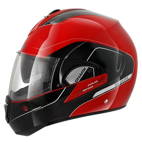 casque modulable shark evoline 3 arona rouge noir argent pi ces casques moto sur la b canerie. Black Bedroom Furniture Sets. Home Design Ideas