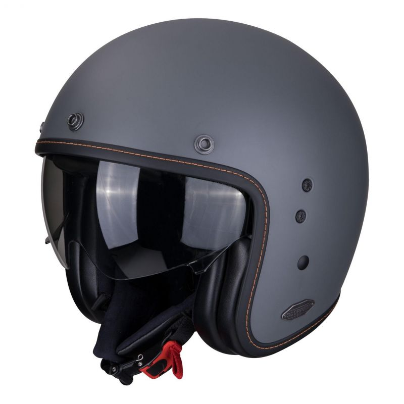 Casque jet Scorpion Belfast Mat gris ciment