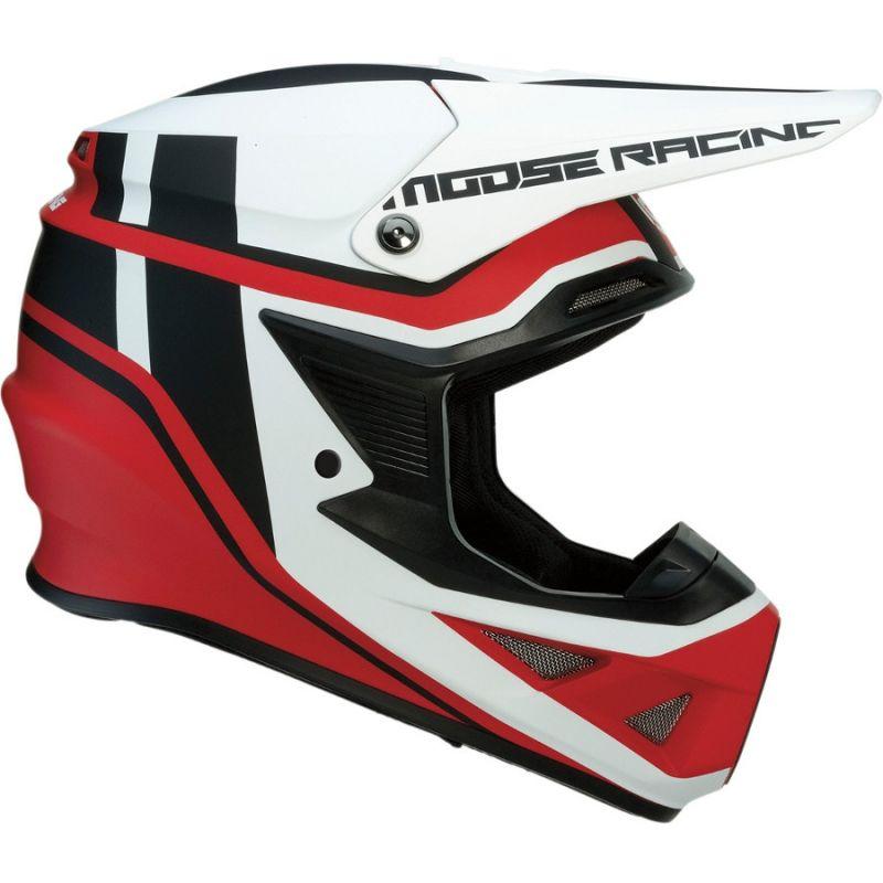 Casque cross Moose Racing FI Session Mips noir/rouge - 1
